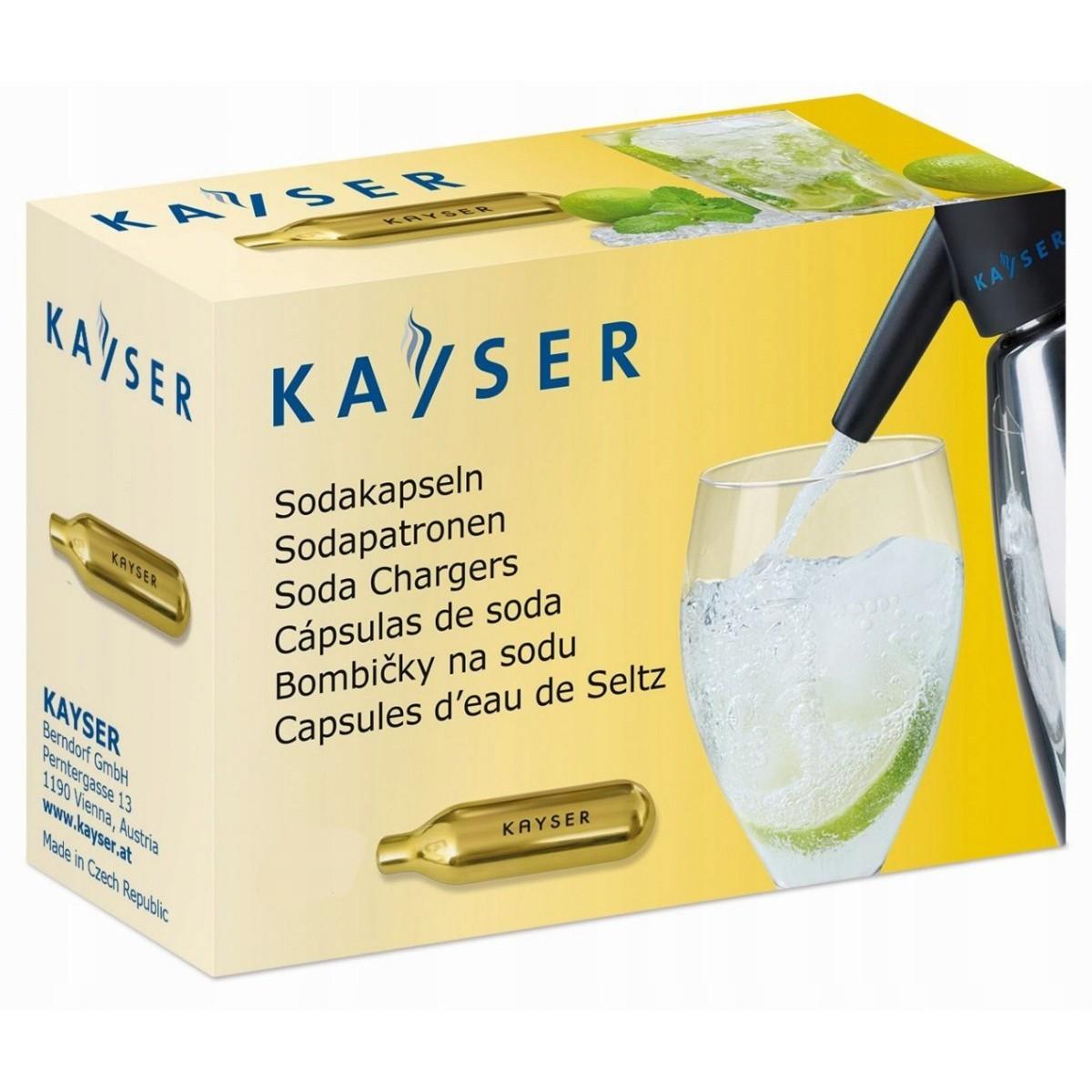 bombičky na sifón sódu jednorázové 50ks CO2 KAYSER megamix.shop