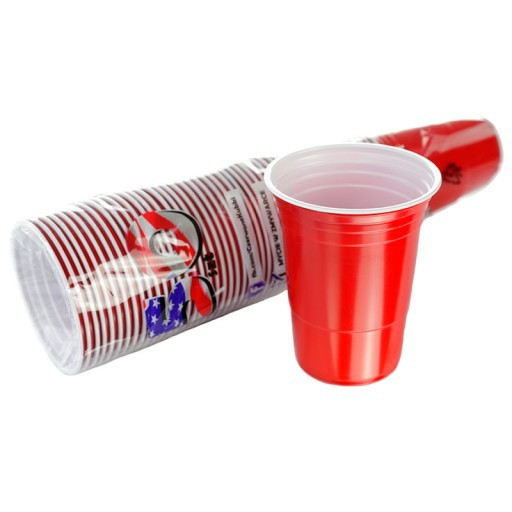 červené kelímky americké RED CUP 50ks 12cm 473ml beerpong megamix.shop