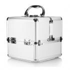 Kosmetický kufřík rozkládací 18x18x18cm stříbrný