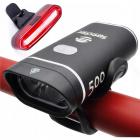 LED lampa na kolo přední + zadní na USB XPG500
