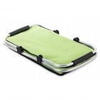 Skládací piknikový koš termální taška 48x28 cm zelená