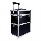 Přenosný kosmetický kufřík rozkládací 34x24x46cm černý