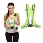 Reflexní vesta popruhy na běhání nastavitelná