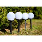 Zahradní solární lampy LED 6ks koule 6000K
