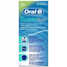 Dentální nit ORAL-B Super Floss 50ks