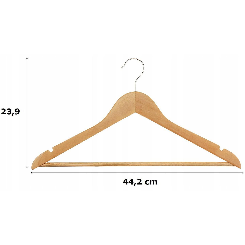dřevěné věšáky 30ks na oblečení megamix.shop