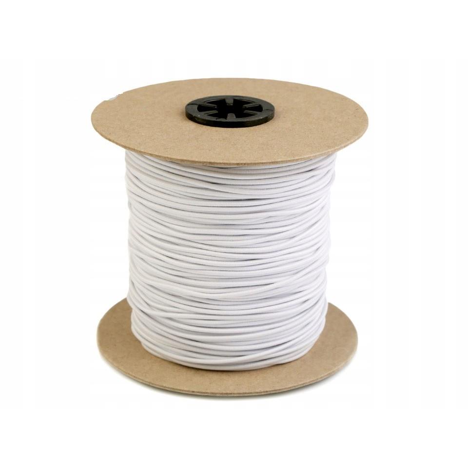 guma kulatá na šití 2mm 10m bílá kulatá gumička na oděv megamix.shop