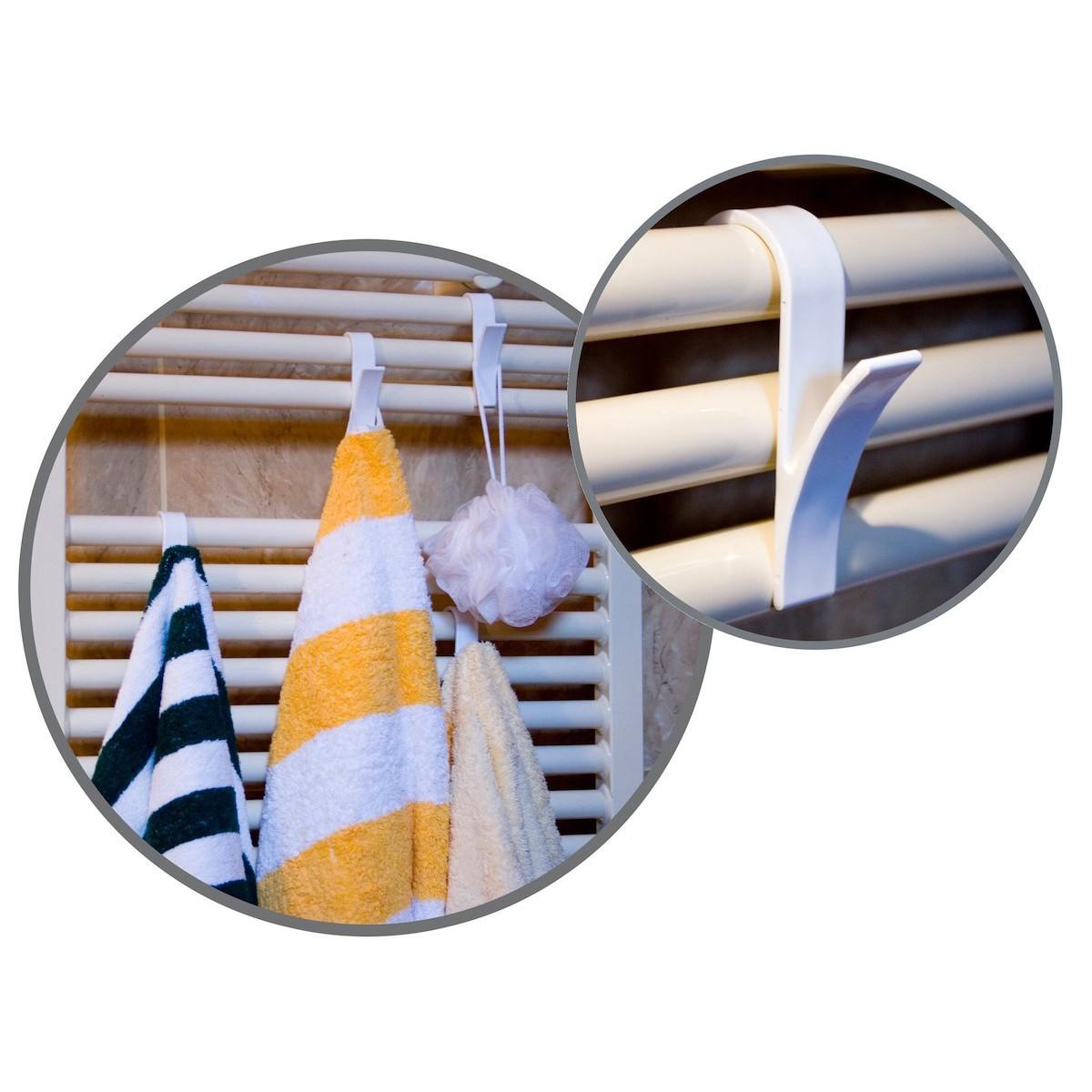 háčky do koupelny závěsy na radiátor na ručníky 6ks megamix.shop