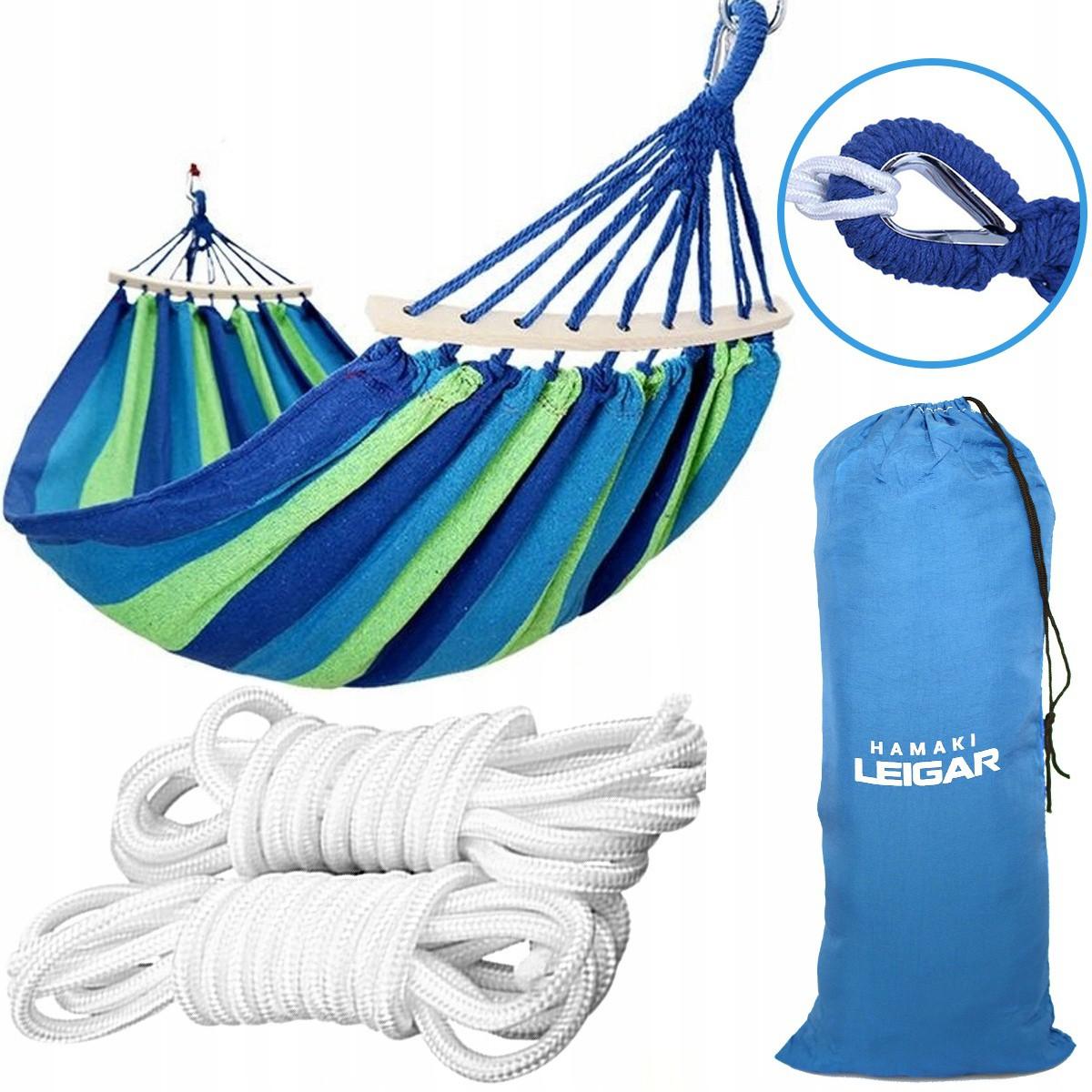houpací síť pro 2 osoby 260x160cm 240kg + příslušenství a taška megamix.shop