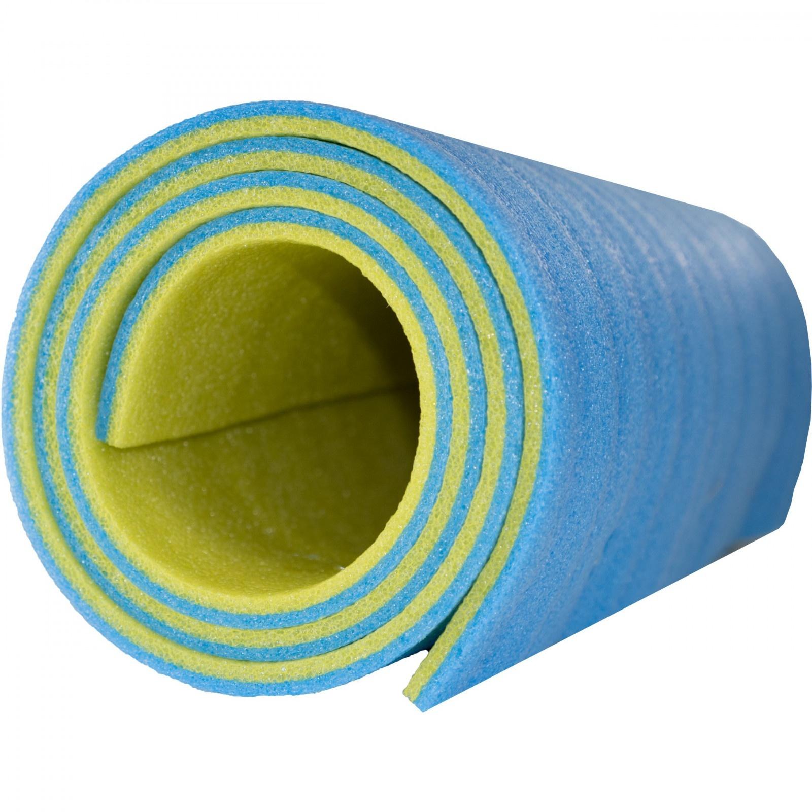 karimatka pěnová podložka 180x50x1cm zelenomodrá fitness jóga megamix.shop