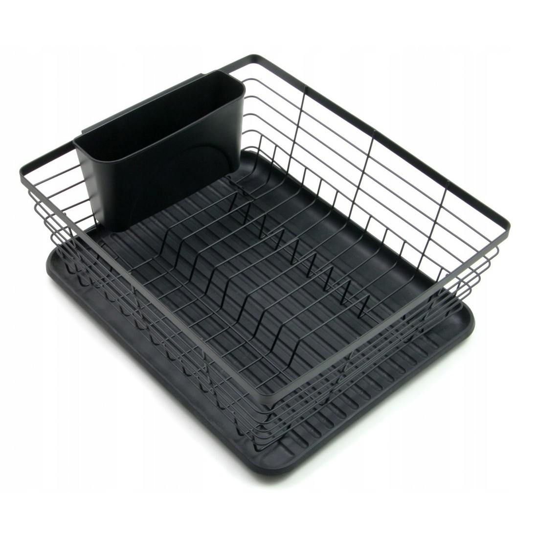 košík na sušení nádobí dvouúrovňový černý 36x30x14cm megamix.shop