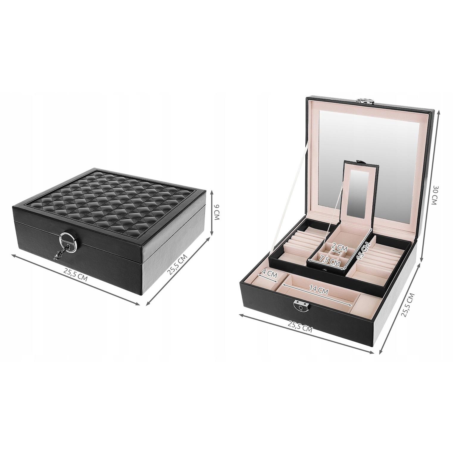 krabička na šperky šperkovnice dřevěná megamix.shop