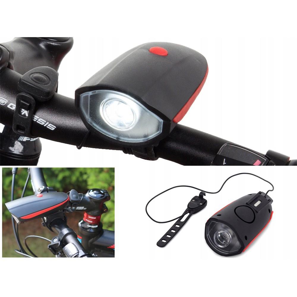 LED přední světlo na kolo 250 ml a klaxon na USB megamix.shop