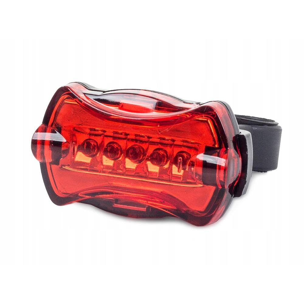 LED lampa na kolo s držákem 5 LED AAA červená megamix.shop