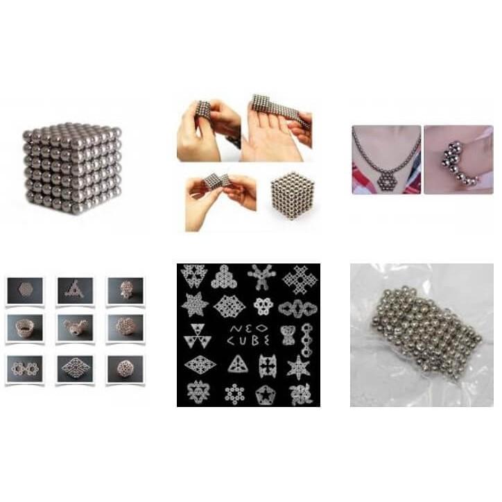 magnetické kuličky pro děti 5mm 216ks + krabička megamix.shop