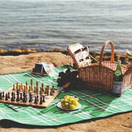 nepromokavá plážová podložka na piknik turistiku výlet megamix.shop