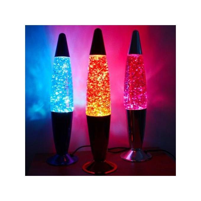 Noční dekorativní lampa 34 cm plněná glitterem megamix.shop
