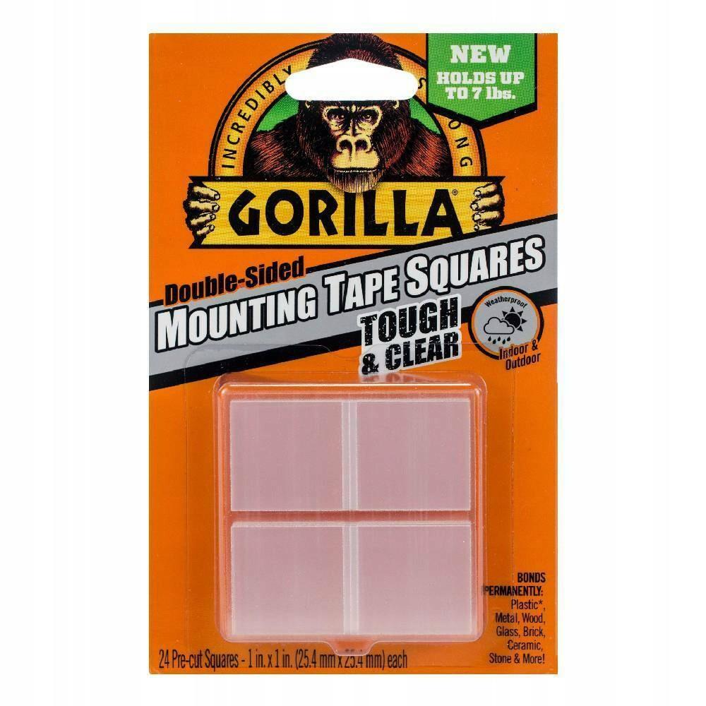 Oboustranná lepící páska 24ks průhledná 25mmx25mm Gorilla megamix.shop