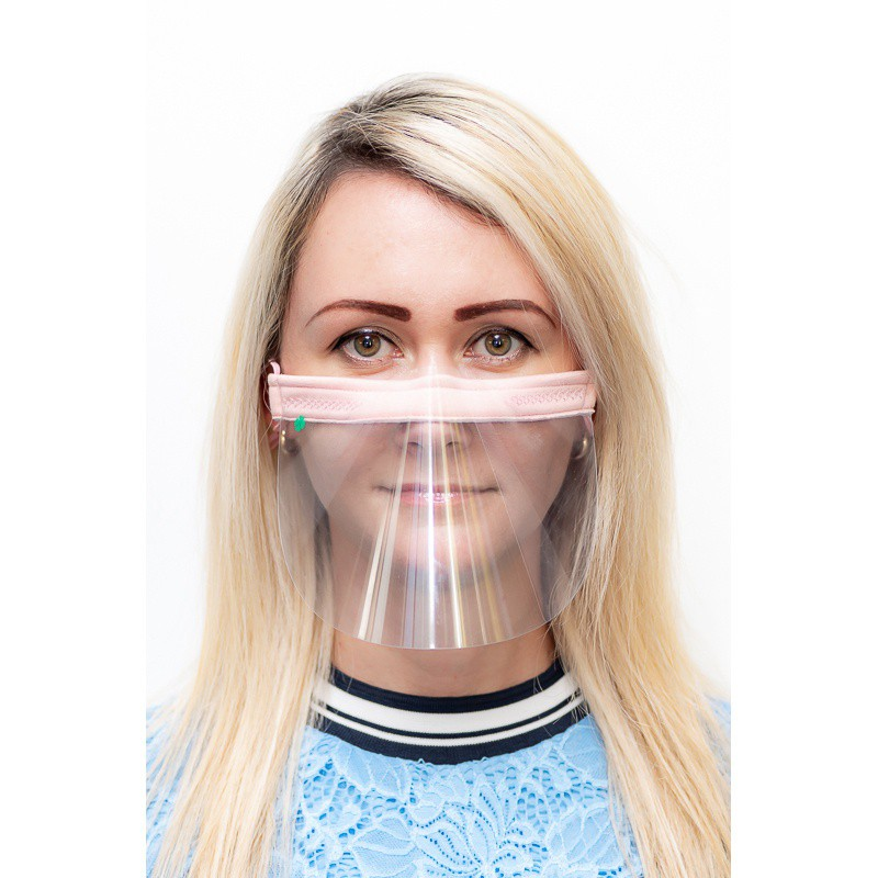 ochranný kryt na obličej průhledná maska nos ústa 21x12cm univerzální megamix.shop