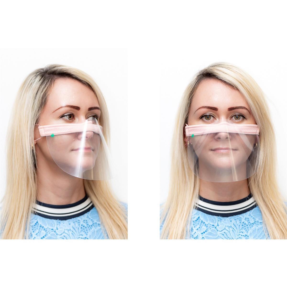 ochranný kryt na tvár priehľadná maska nos ústa 21x12cm univerzálna megamix.shop
