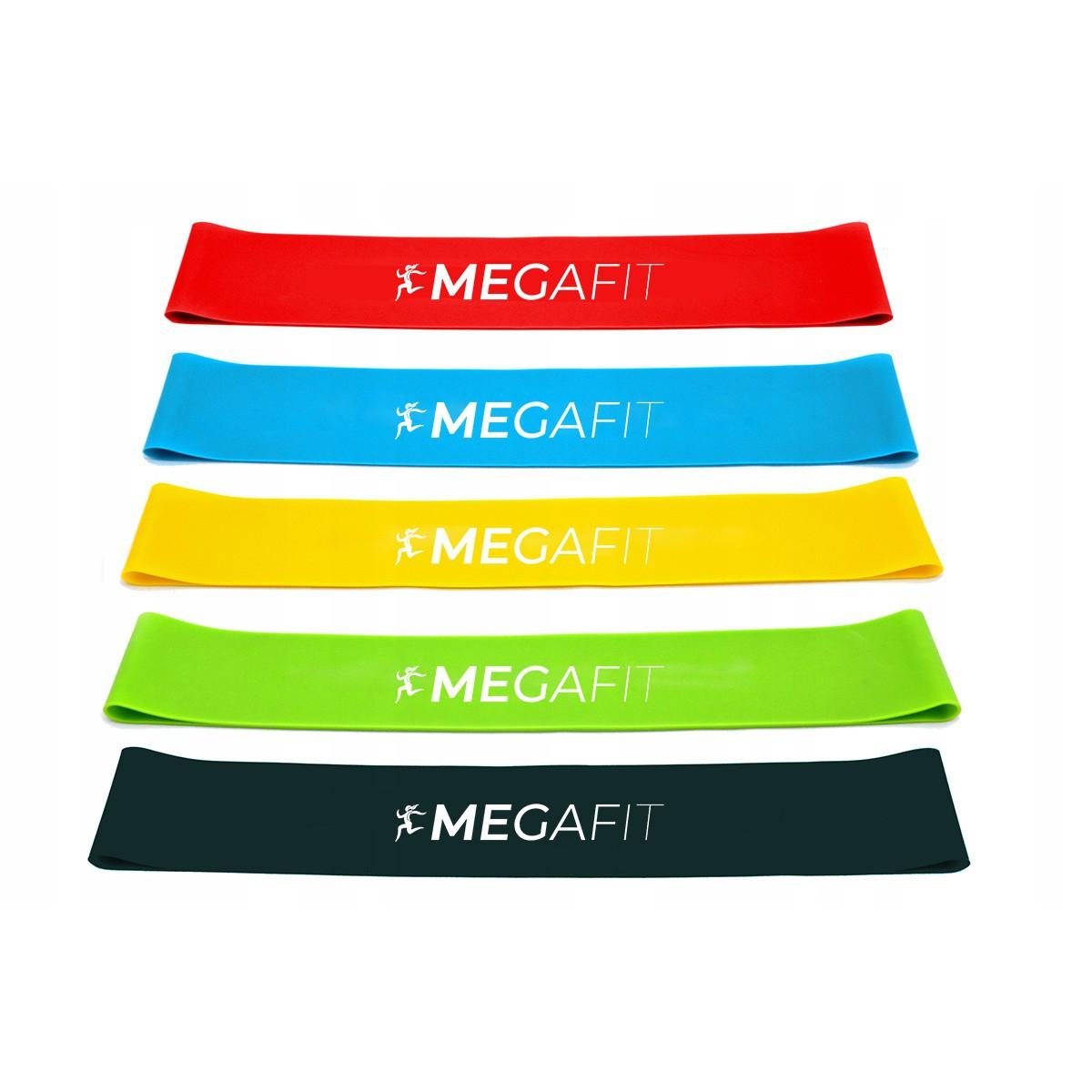 odporové gumy posilovací na cvičení sada 5ks taška megamix.shop