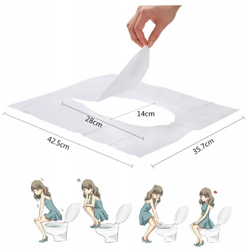Papírová podložka na WC sedadla 10 ks megamix.shop