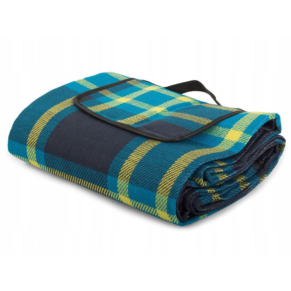 Plážová pikniková deka 150x200 cm voděodolná modrá DL01 megamix.shop