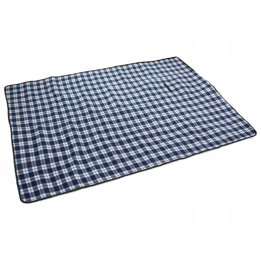 Plážová pikniková deka 150x200 cm voděodolná modrá DL09 megamix.shop