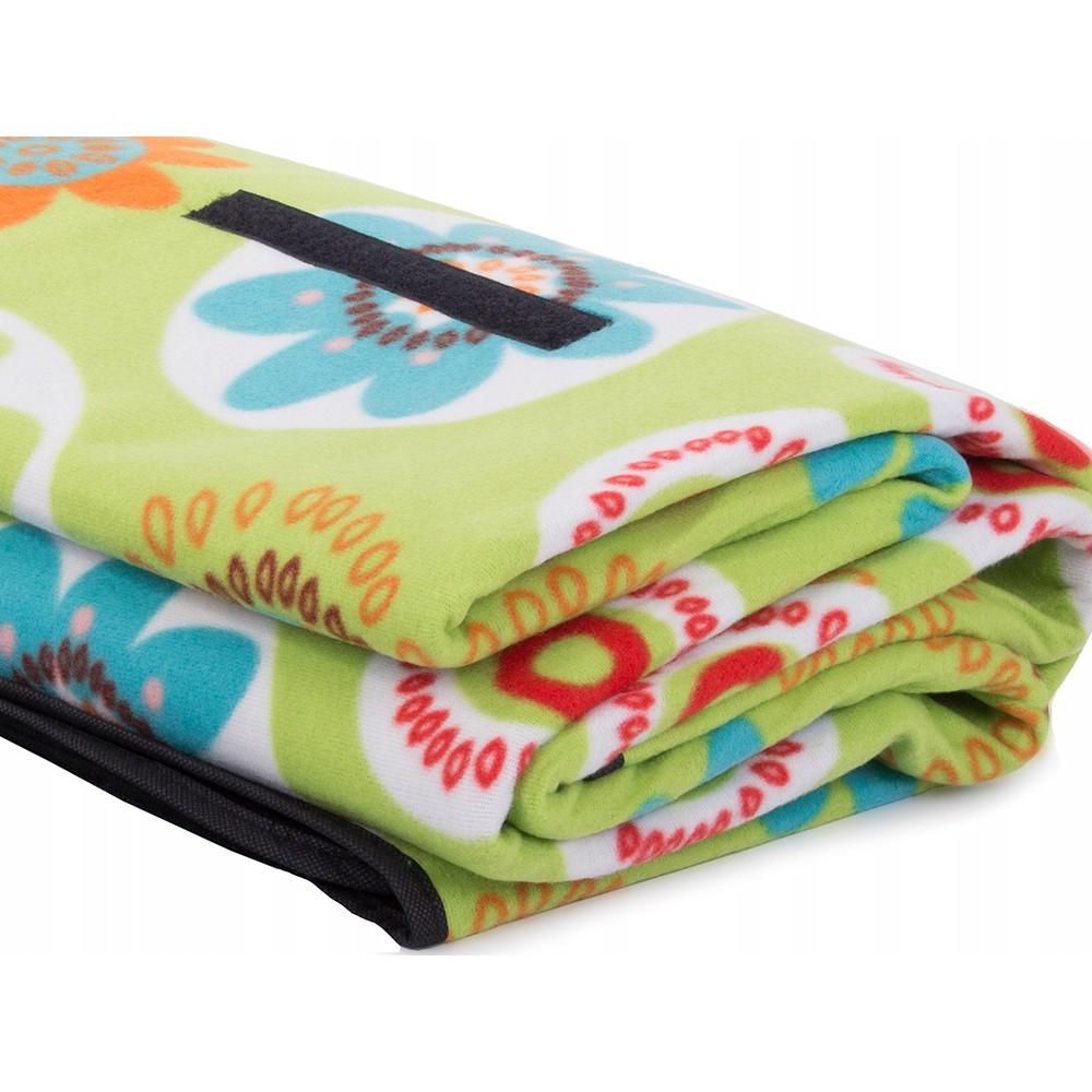 Plážová pikniková deka 150x200 cm voděodolná zelená DL10 megamix.shop