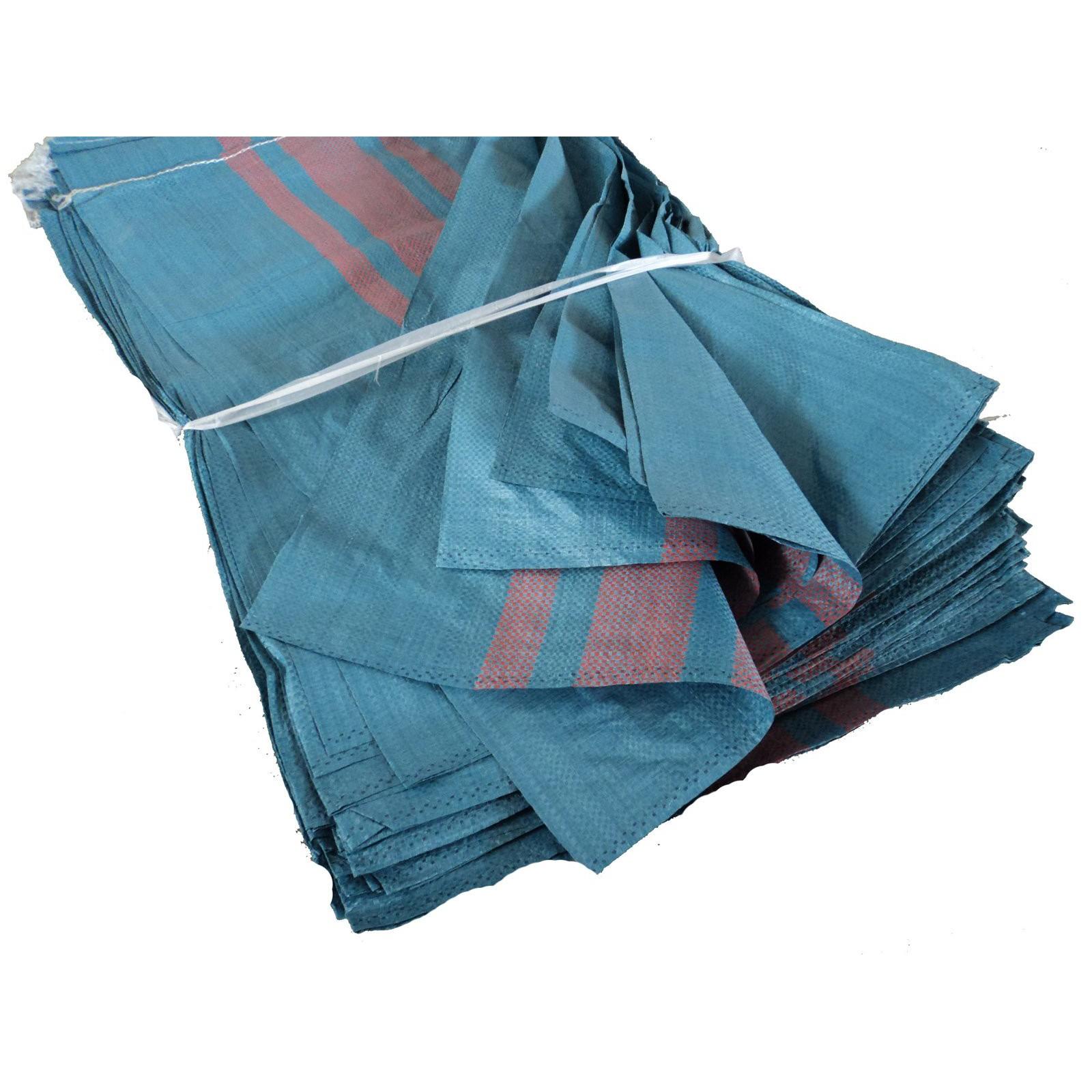 polypropylenové tašky tkané velké silné 50kg modré 50ks megamix.shop