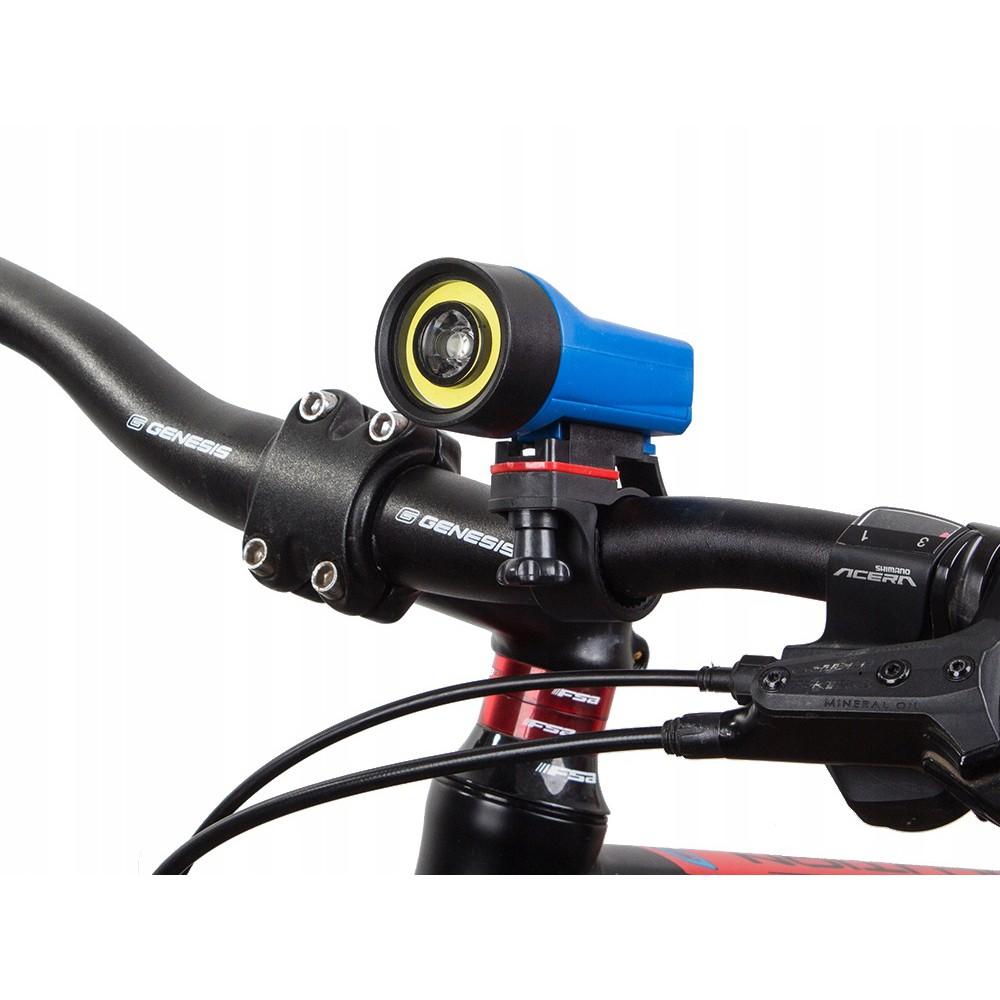 Přední cyklistické světlo LED a COB 8x4 cm AAA megamix.shop