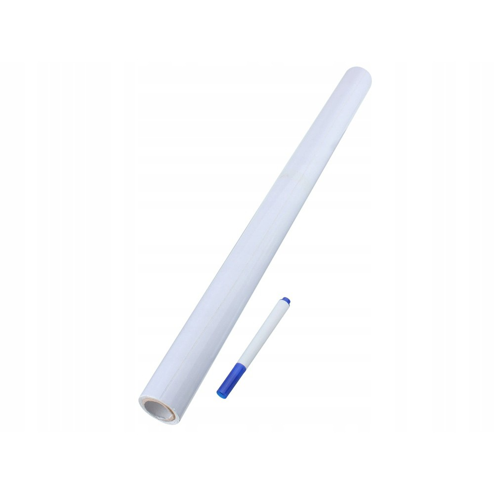 Samolepící bílá tabule na kreslení 200x45 cm a pero megamix.shop