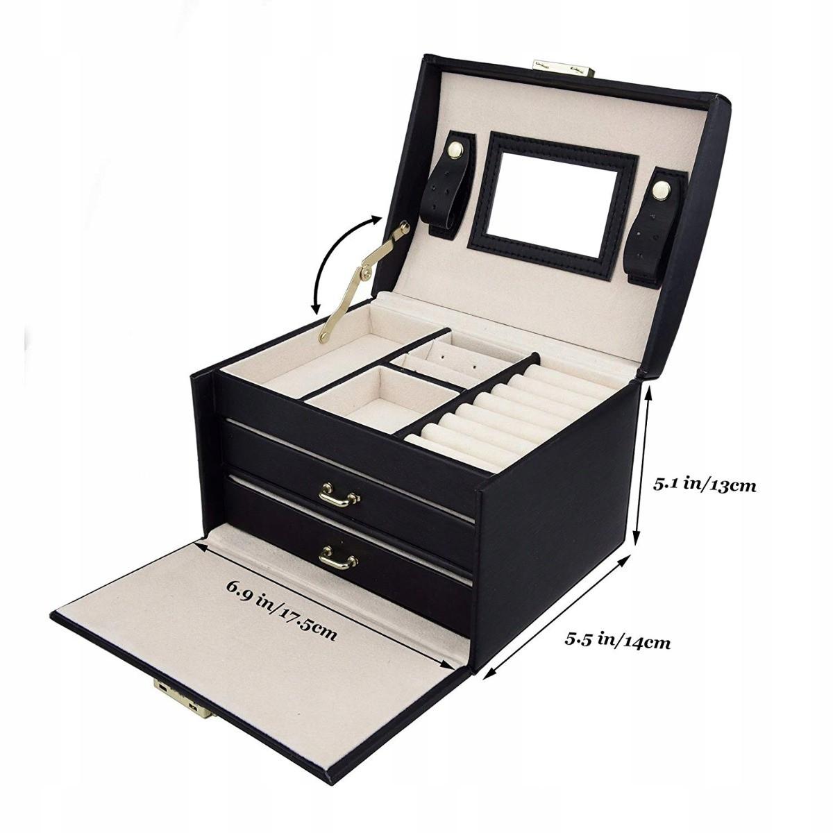 šperkovnice kufřík na bižuterii hodinky šperky megamix.shop
