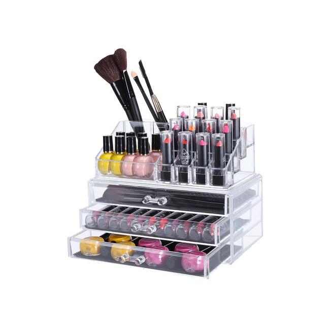 stojan na kosmetiku organizér laky nehty líčení akrylový megamix.shop