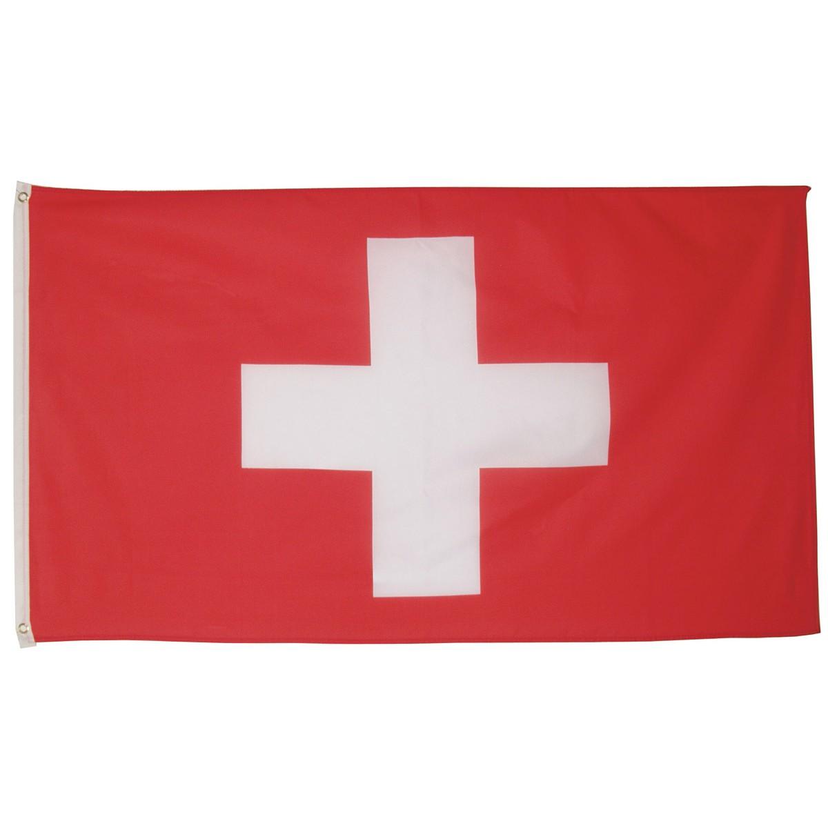 švajčiarska vlajka švajčiarska švajčiarsko 150x90cm obojstranná polyester megamix.shop
