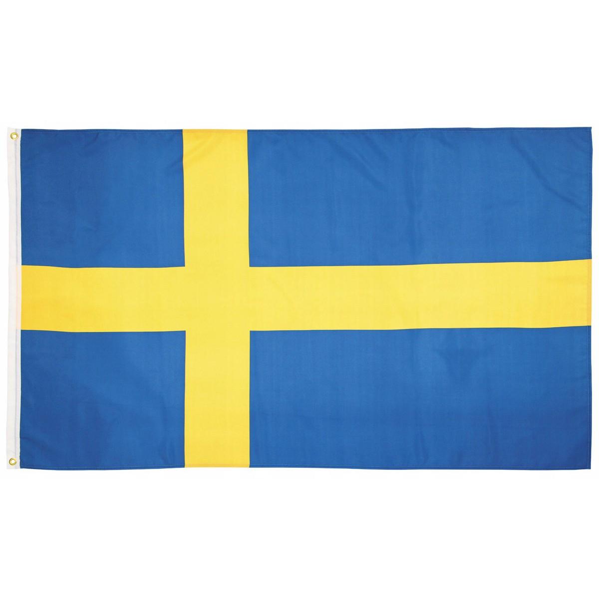 Švédska vlajka Sverige 150x90cm obojstranná polyester megamix.shop