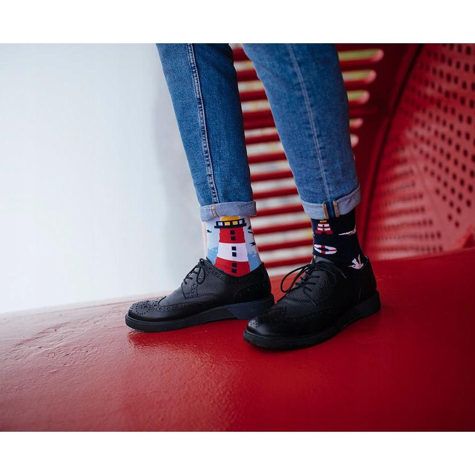Barevné ponožky NORDIC LIGHTHOUSE maják racek 43-46 megamix.shop