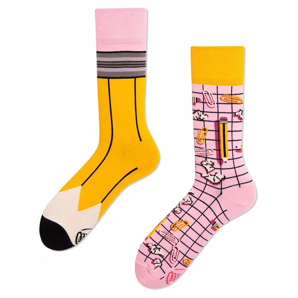 Barevné ponožky PAPERWORK tužka sponky 43-46 megamix.shop