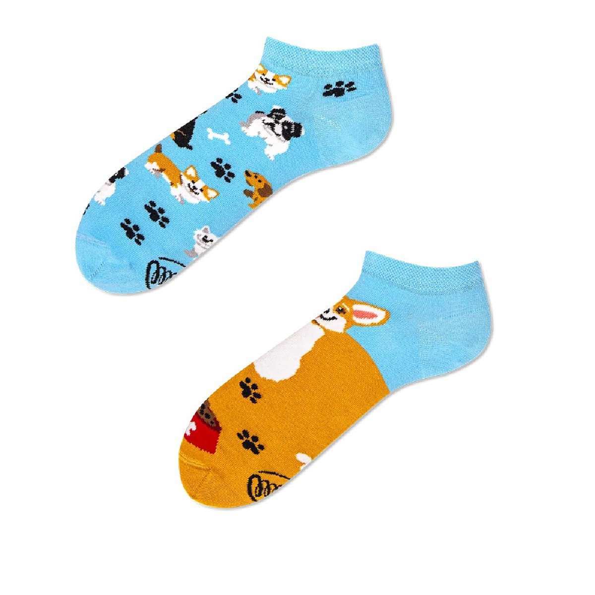Barevné ponožky PLAYFUL DOG LOW psi stopy 39-42 nízké megamix.shop