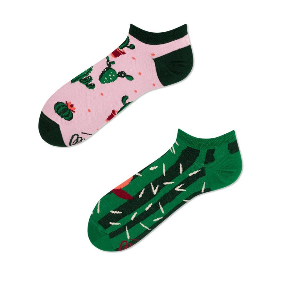 Barevné ponožky SUMMER CACTUS kaktus 35-38 nízké megamix.shop