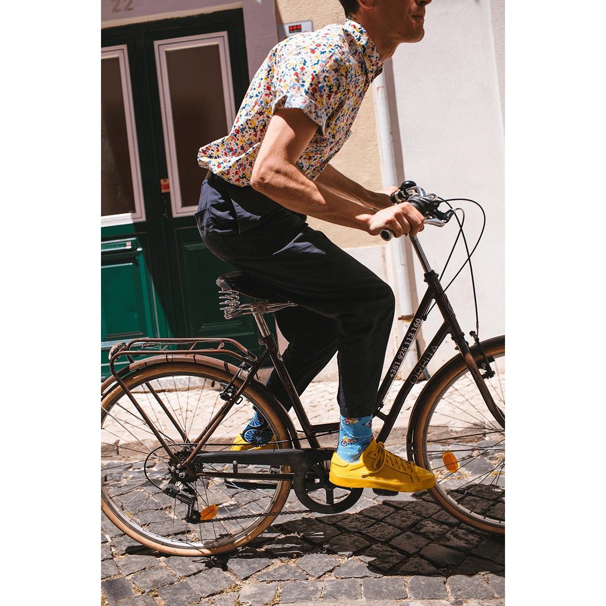 Barevné ponožky BICYCLES kola cyklisté kola 43-46 megamix.shop