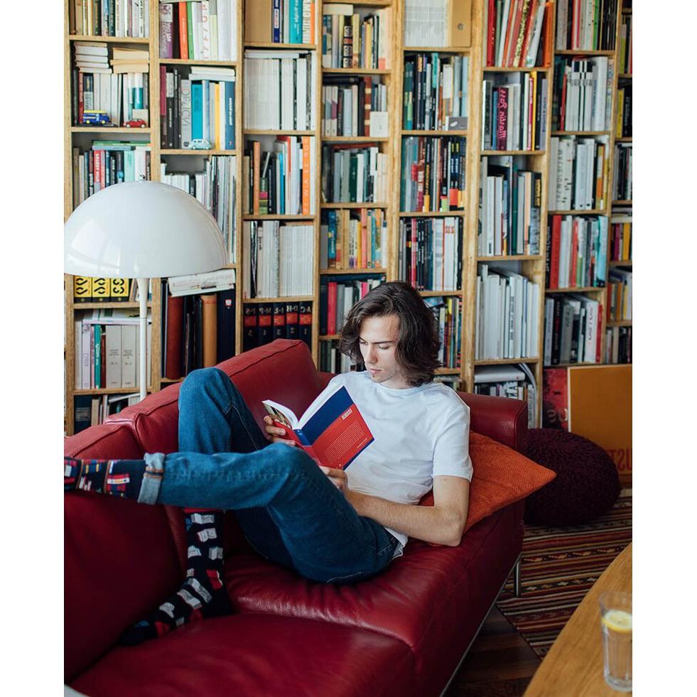 Barevné ponožky BOOK STORY knihovna knihy budík 35-38 megamix.shop