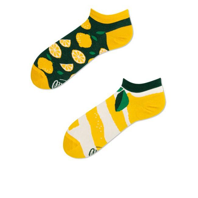 Barevné ponožky LEMON citron lístky 39-42 nízké megamix.shop