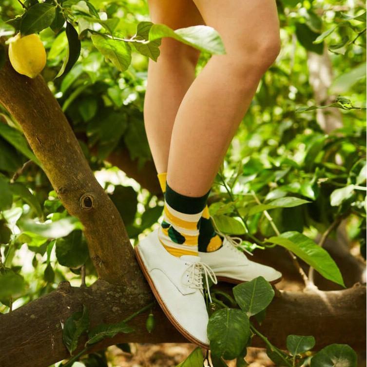 Barevné ponožky LEMON citron lístky 23-26 megamix.shop