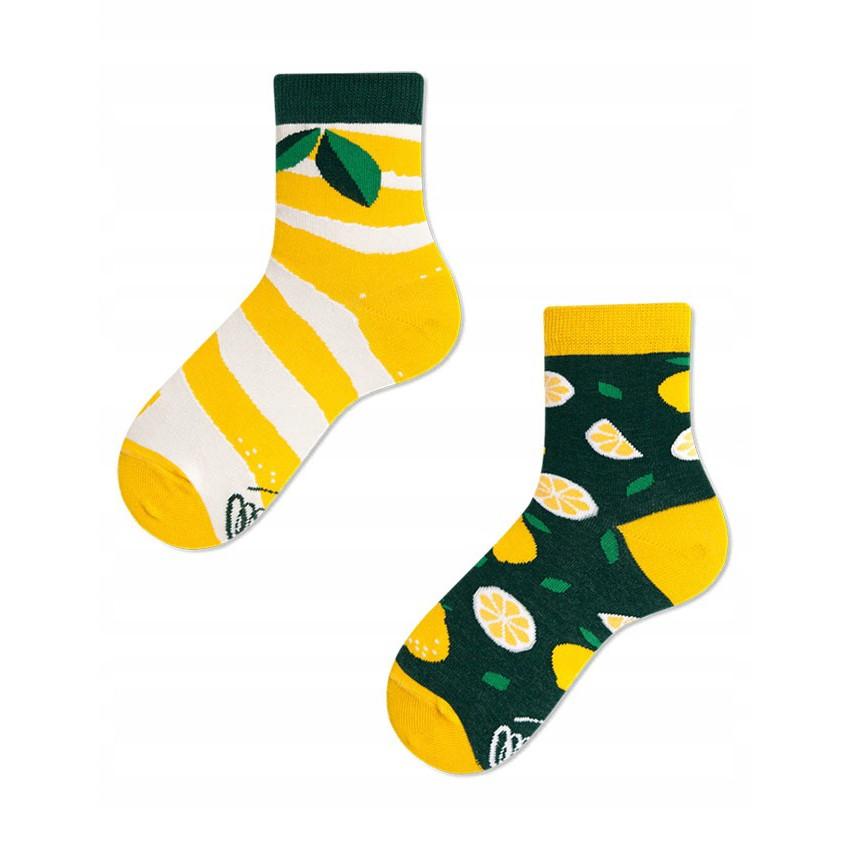 Barevné ponožky THE LEMONS citron lístky 27-30 megamix.shop