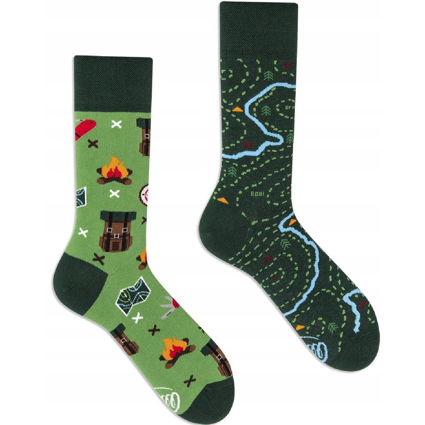 Barevné ponožky MAP mapa navigace turistika 39-42 megamix.shop