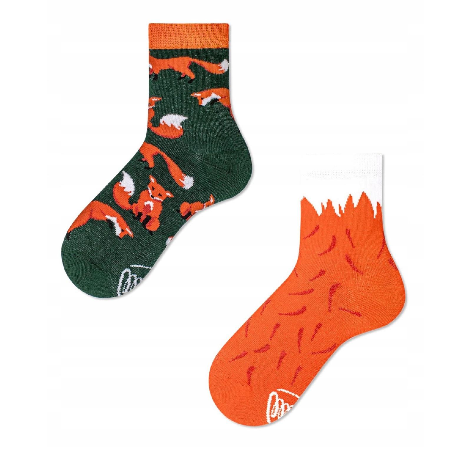 Barevné ponožky RED FOX červená liška 23-26 megamix.shop