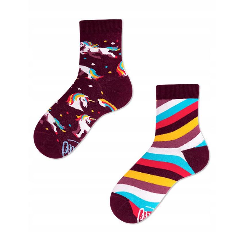 Barevné ponožky UNICORN jednorožec 31-34 megamix.shop