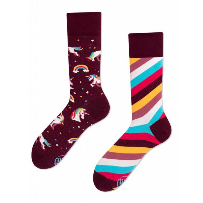 Barevné ponožky UNICORN jednorožec 39-42 megamix.shop