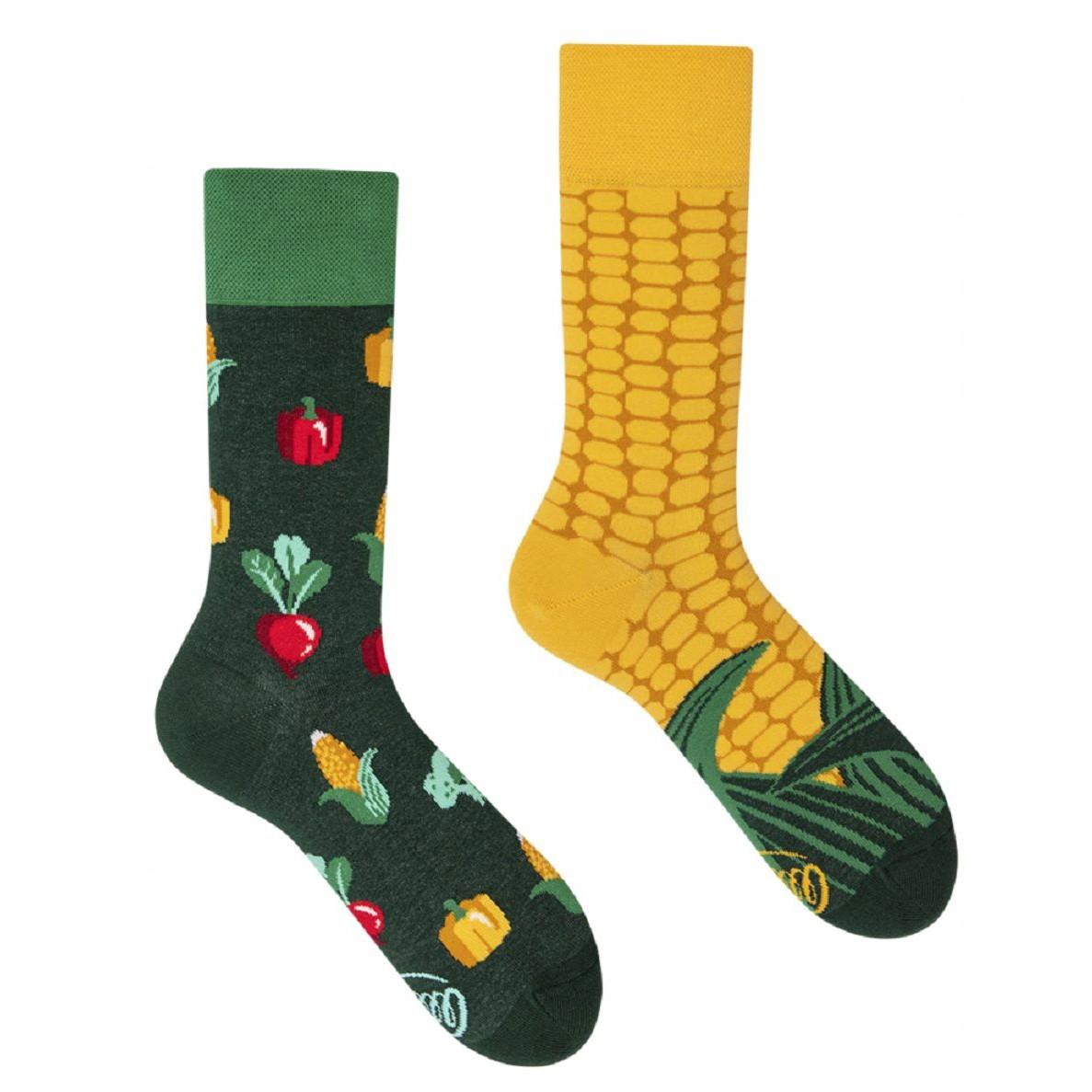 Barevné ponožky VEGGIE MIX kukuřice zelenina 35-38 megamix.shop